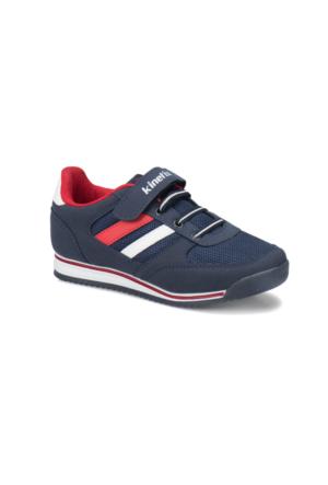 Kinetix Tramor Lacivert Kırmızı Beyaz Erkek Çocuk Sneaker Ayakkabı