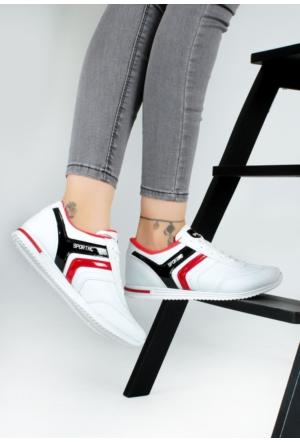 Erbilden Akk Beyaz Cilt Desenli Kadın Spor Ayakkabı