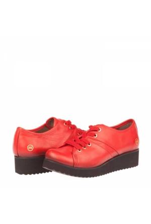 Mammamıa Kadın Hakiki Deri Dolgu Topuklu Ayakkabı