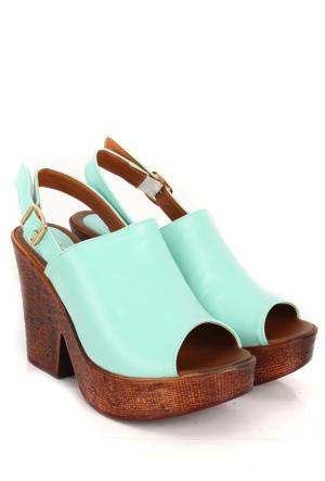 Gön Kadın Sandalet 27020 Su Yeşili