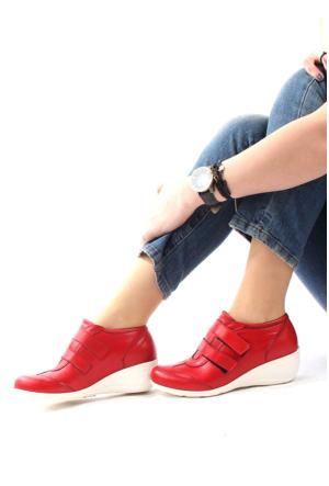 Gön Deri Kadın Ayakkabı 20018 Kırmızı