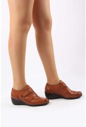 Gön Taba Antik Deri Kadın Ayakkabı 20018