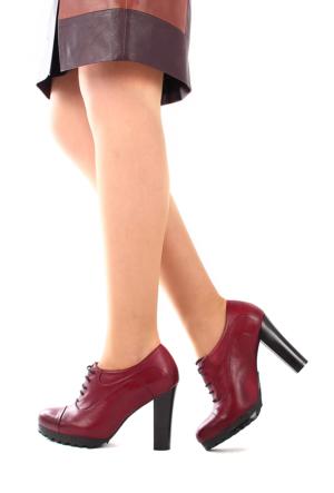 Gön Deri Kadın Ayakkabı 23138 Bordo Antik