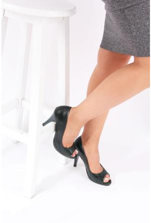 Gön Haki Antik Deri Kadın Ayakkabı 22344