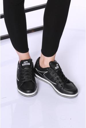 Kaya Dericilik Siyah Kadın Spor Ayakkabı-7256