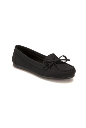 Miss F DS17031 Siyah Kadın Loafer Ayakkabı