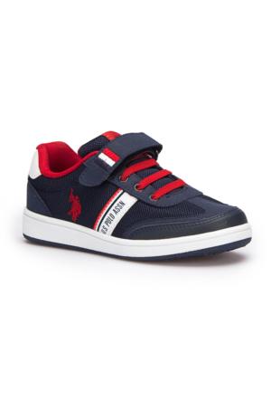U.S. Polo Assn. Kares Lacivert Erkek Çocuk Çocuk Sneaker Ayakkabı