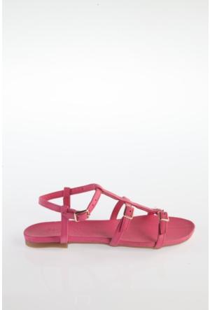 Simoty Kadın Fuşya Topuksuz Sandalet