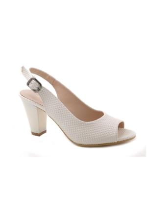 Artemis Wm3020 Beyaz Alçak Topuk Kalın Topuk Kadın Ayakkabı