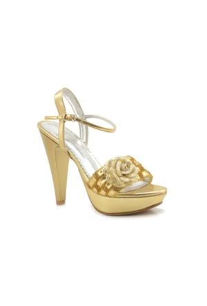 Fantasy Dore Altın Renk Platform Kadın Ayakkabı