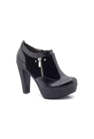 Modalisa W1236 Siyah Platform Yüksek Kadın Ayakkabı