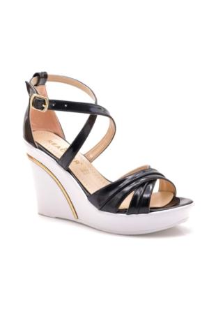 Reactor Black Shine Platform Kadın Ayakkabı
