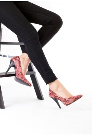 Erbilden Zey Renkli Cilt Bayan Stiletto Ayakkabı