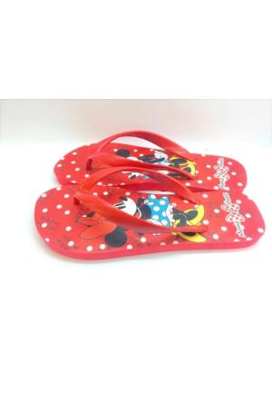Minnie Mouse Lisanslı Kadın Parmak Arası Plaj Terliği