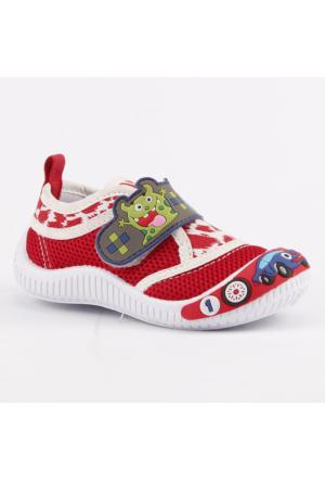 Akinalbella 1110-144 Keten Cırtlı Erkek Çocuk Spor Ayakkabı