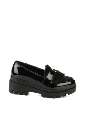 Bambi C0901480598 Kadın Loafer Ayakkabı Siyah