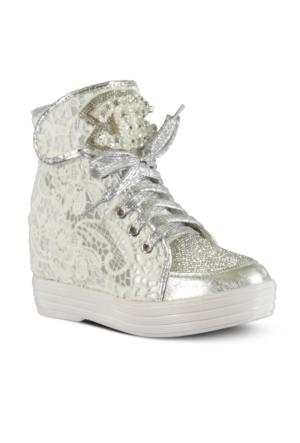 Marjin Mara Dolgu Topuk Ayakkabı Beyaz