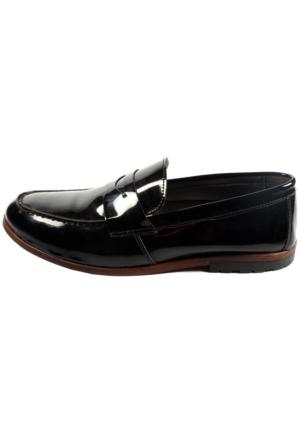 Commodore Sailor 267-283 Siyah Rugan Günlük Erkek Ayakkabı