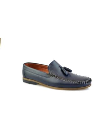 Gnc Lacivert Deri Erkek Günlük Ayakkabı