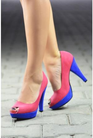 Peri Kızı Peyo Topuklu Ayakkabı Pembe