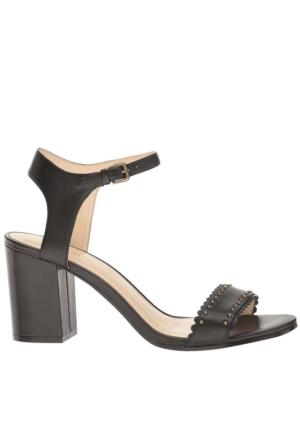 Nine West Nwgurl Siyah Gerçek Deri Sandalet