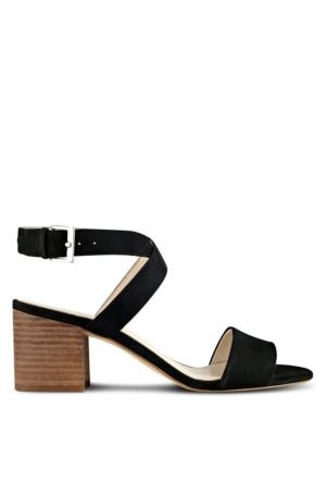 Nine West Nwgondola10 Siyah Gerçek Nubuk Sandalet