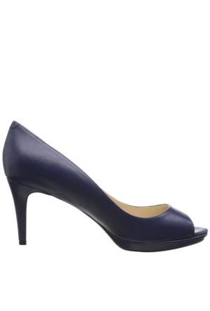 Nine West Nwgelabelle Lacivert Gerçek Deri Ayakkabı Burnu Açık