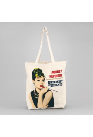 İf Dizayn Audrey Hepburn Tasarım Bez Çanta