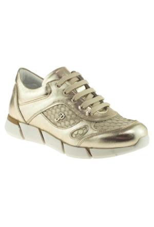 Perlina 2208 Fermuarlı Altın Çocuk Ayakkabı