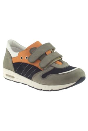Perlina 2213 Çift Cırt Gri Çocuk Ayakkabı