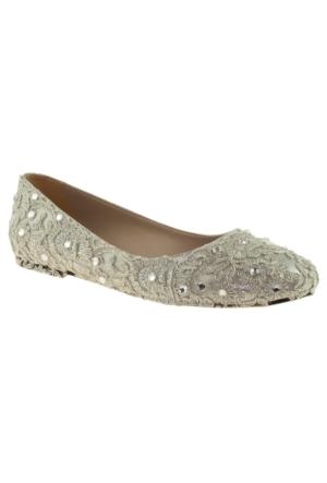 Alisolmaz 2835 Dantel Gümüş Kadın Abiye Ayakkabı