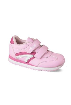 Vicco Çift Cırtlı Kız Spor Ayakkabı Pembe