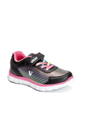 Vicco Cırtlı Kız Spor Ayakkabı Siyah