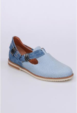 Swellsoft Mavi Petek Kadın Ayakkabı-822