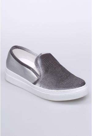 Celens Gümüş Taşlı Kadın Ayakkabı-302