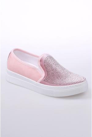 Celens Pudra Taşlı Kadın Ayakkabı-302