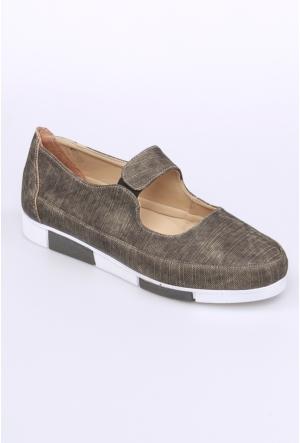 Oflaz Yeşil Kadın Ayakkabı-Y1455