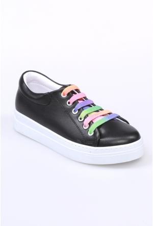 Oflaz Siyah Kadın Ayakkabı-Y1529