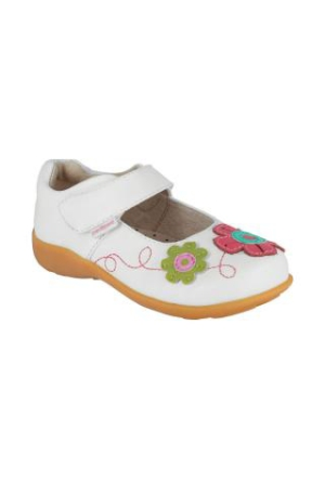 Pediped Sadie White Multi Leather Mary Çocuk Ayakkabı