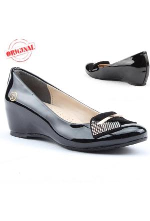 Traks Tecer 203 Bayan Gizli Dolgu Topuk Ayakkabı 4 cm Günlük