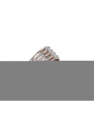 Shalin Gul 088 Dore Baget Taş Bayan Terlik