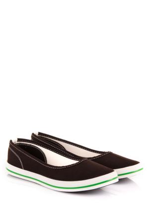 Gön 35998 Siyah Keten Trend Kadın Ayakkabı