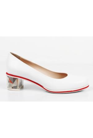 Veyisusta Desenli Topuk Bayan Ayakkabı