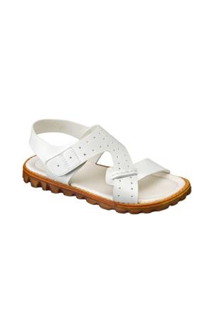 Vicco Cırtlı Erkek Sandalet Beyaz
