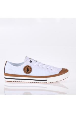 U.S. Polo Assn. Erkek Ayakkabı Brady Beyaz