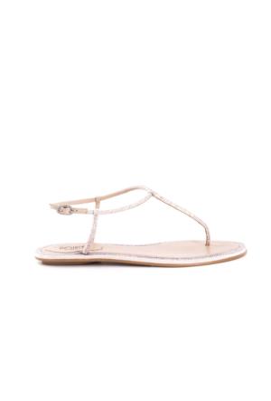 Rogue Kadın Pudra Topuksuz Sandalet