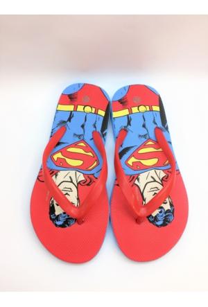 Superman Lisanslı Deniz Ve Plaj Erkek Çocuk Parmak Arası Terlik