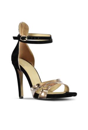 Marjin Lemas Topuklu Ayakkabı Altın