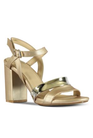 Marjin Gensa Topuklu Ayakkabı Altın