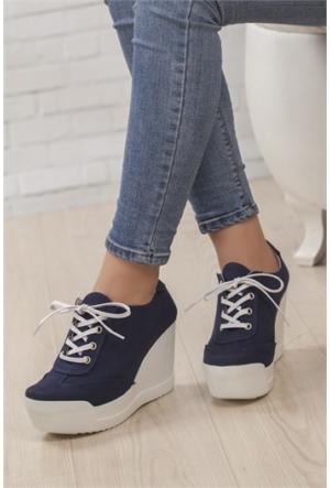 Ayakkabı Yolla Lacivert Dolgu Spor Yh105